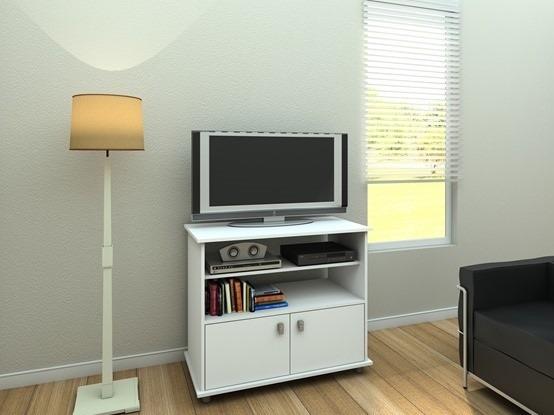 Mesa Para Tv En Blanco O Tabaco Modelo Querencia - U$S 109,00 en ...