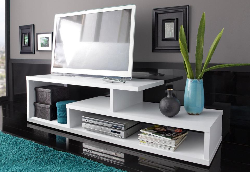 Mesa para tv mueble de entretenimiento en for Muebles estilo moderno minimalista