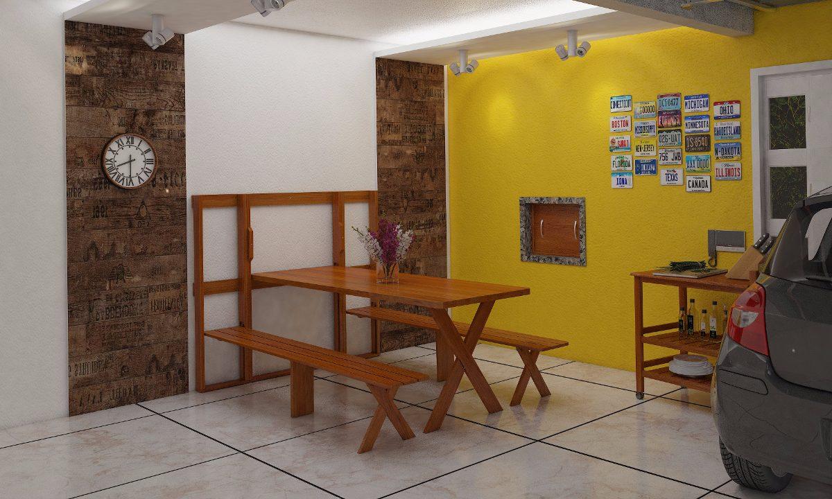 Mesa parede churrasco dobr vel madeira maci a r stica r em mercado livre - Mesas de pared ...