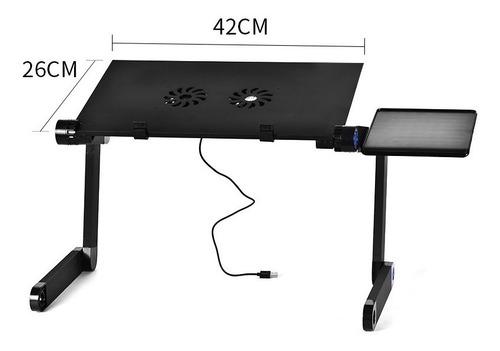mesa pegable portatil para notebook con 2 ventiladores