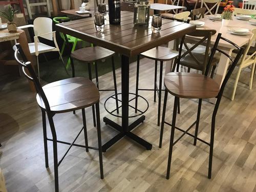 mesa periquera 4 sillas para restaurantes, bares cafeterías