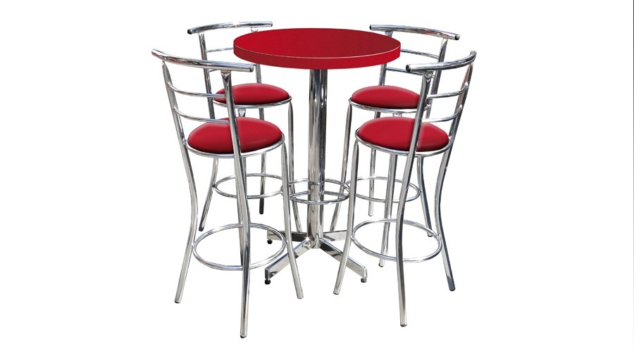 Mesa periquera con bancos 1 en mercado libre for Sillas para bares y confiterias