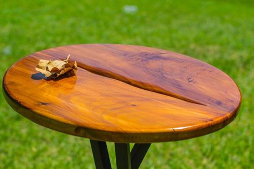 mesa periquera en madera de parota agua de mar muebles