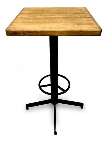 mesa periquera madera restaurante bar cafetería lounge