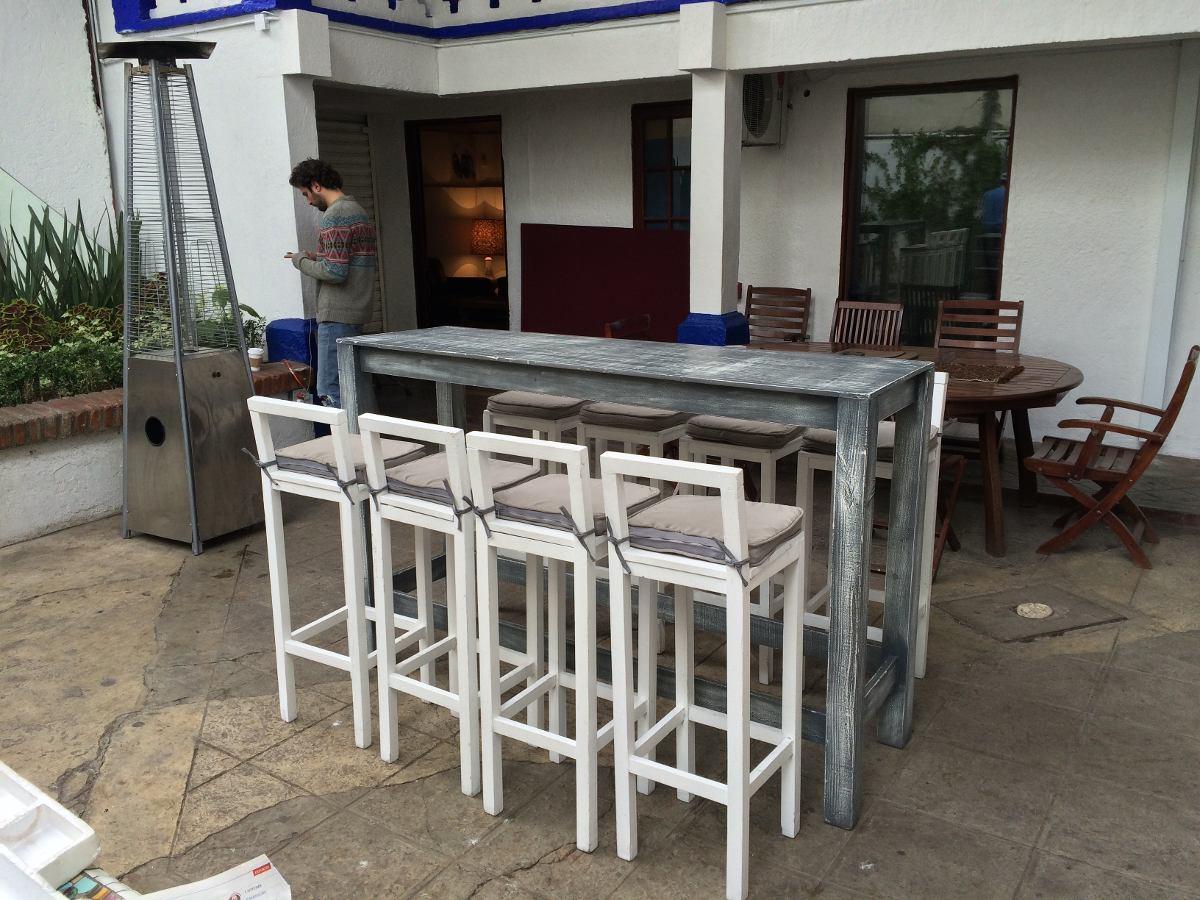 Mesa periquera vintage 2 en mercado libre for Mesa plegable 8 personas