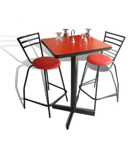 Mesa periquera y 4 bancos bar lounge restaurante 2 150 for Mesas de plastico para jardin baratas