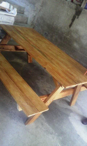 mesa picnic, jardin, terraza, camping, de madera furte