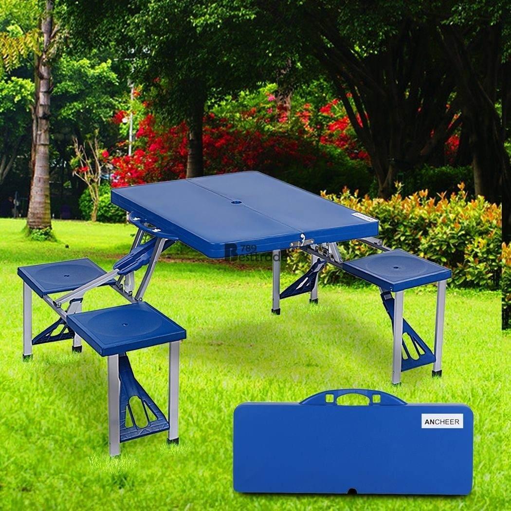 mesa picnic pegable 4 sillas patio camping portatil. Black Bedroom Furniture Sets. Home Design Ideas