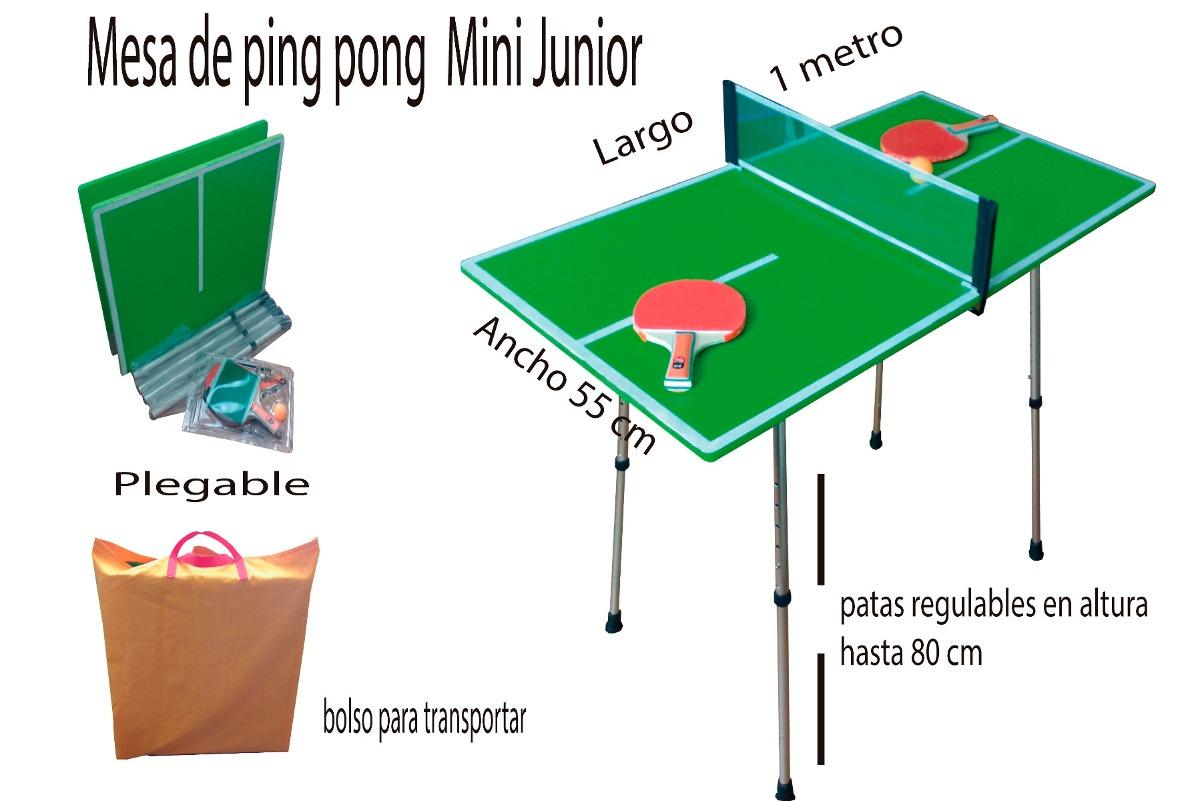 Mesa De Ping Pong Mini Junior Plegable 39 000 En Mercado Libre