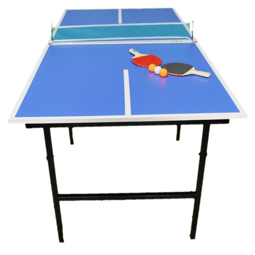 mesa ping pong familiar plegable + pelotas + red + 2 paletas