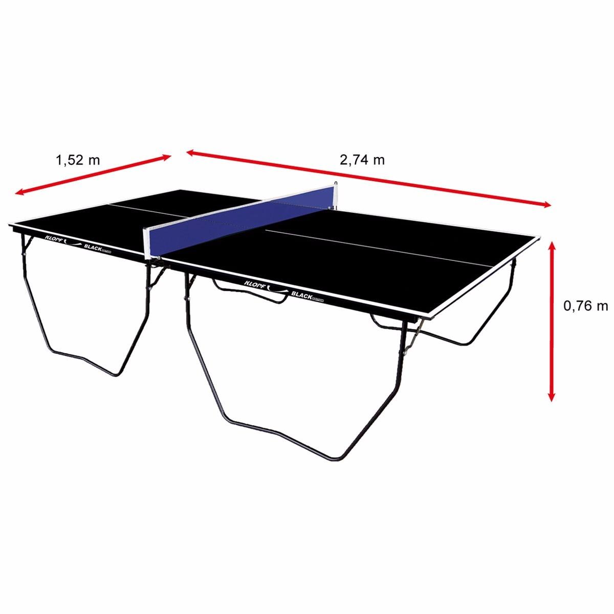 Mesa ping pong tenis de mesa oficial 15mm black klopf 1087 r 986 90 em mercado livre - Mesas de pinpon ...
