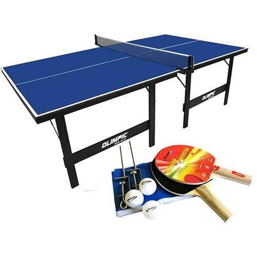 Mesa ping pong t nis mesa olimpic 1013 kit raquetes 5030 r 477 90 em mercado livre - Mesas de pinpon ...