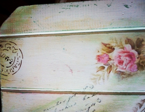 mesa pino plegable vintage para balcon. decoupage