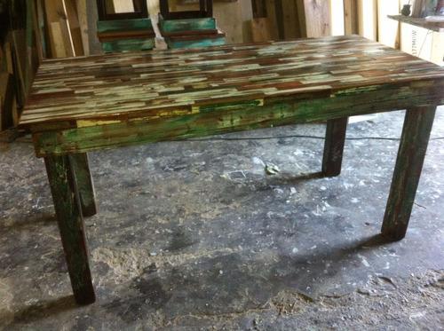 Mesa pinotea vintage decape rustica reciclada    8.499,00 en ...