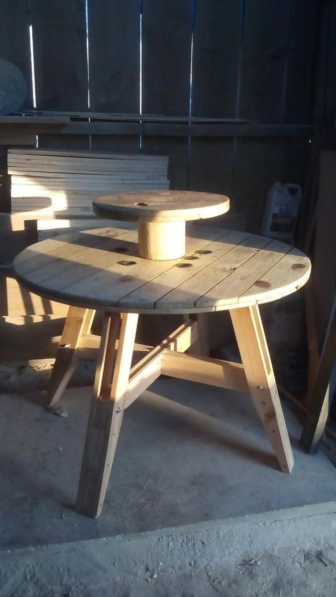 Mesa pizzera de madera reciclada y tornamesa 2 - Mesas madera reciclada ...