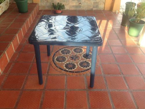 mesa plastica ak plastic nuevas color verde y azul