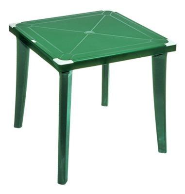 mesa plastica cuadrada 4 puestos