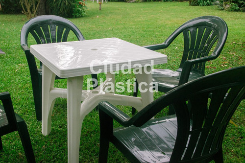 mesa plastica cuadrada patas en cruz! reforzada ideal