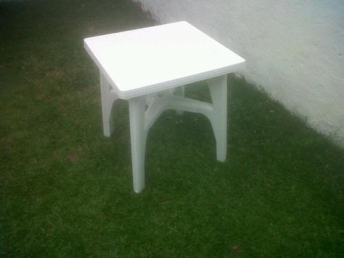 mesa plástica cuadrada reforzada increíble!!!