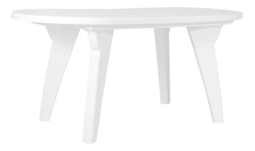mesa plastica garden chicago life 1.70m. blanca