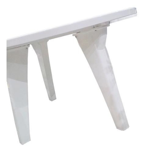 mesa plastica garden life 1.20m. patas reforzadas blanca