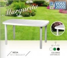 mesa plástica jardín voss 2000 135x80  blanca o negra