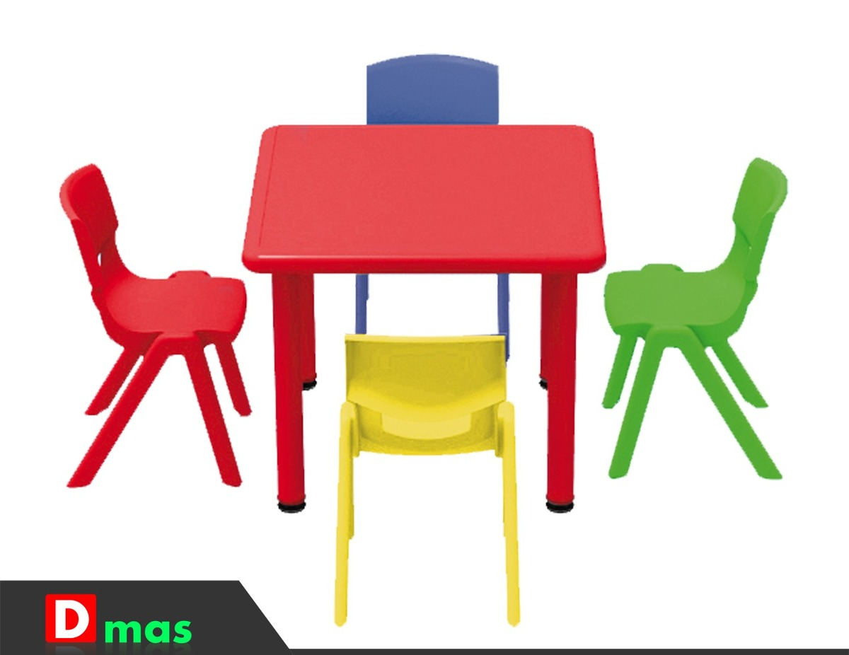 Mesa plastica ni os infantil escuela jardin guarderia d for Mesa infantil