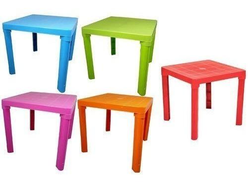 mesa plástica niños plegable