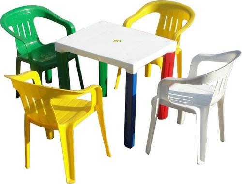 mesa plástica para niños con patas desmontables