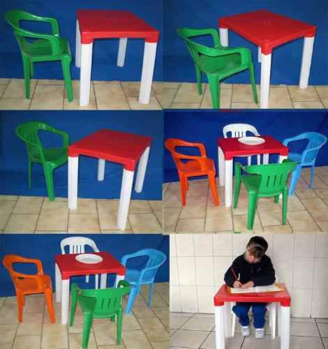 Mesa pl stica para ni os con patas desmontables for Mesas infantiles de plastico