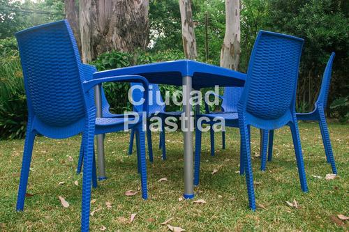 mesa plastica patas de caño de 2 pulgadas - guadalupe