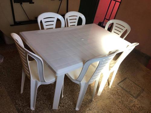mesa plastica rectangular 1,40 x 78 cm