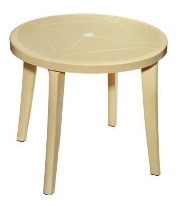 mesa plástica redonda