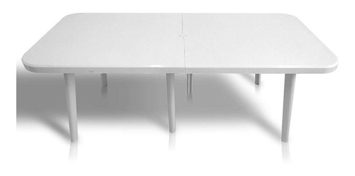 mesa plástica retangular augusta branca dolfin