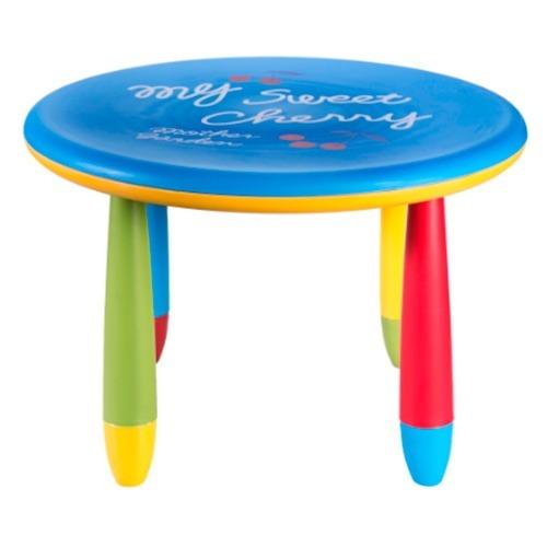 mesa plástico tipo ikea para niños redonda toyland