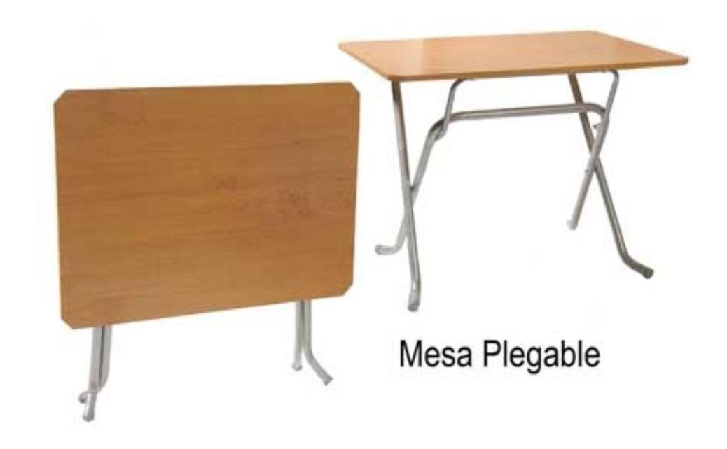 Melamina Super Tapa Mesa 100x65 Cm Resistente Plegable 9EI2DH