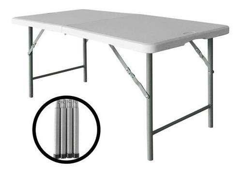 mesa plegable 120 jardin plastica valija camping playa picni