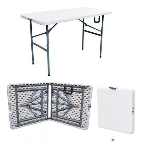 mesa plegable 180 cm rectangular maleta eventos asados / hb