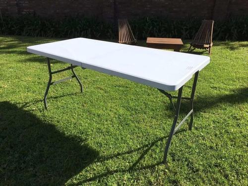 mesa plegable 1.80 mt. valija plastico camping picnic playa