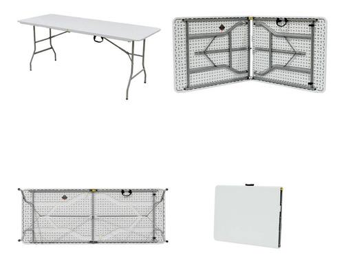 mesa plegable 1.80 mts tipo maletín o valija camping kushiro