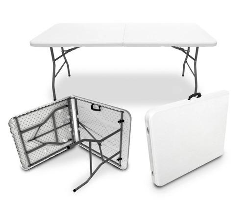 mesa plegable 1.80 portafolio maletin portatil jardín evento