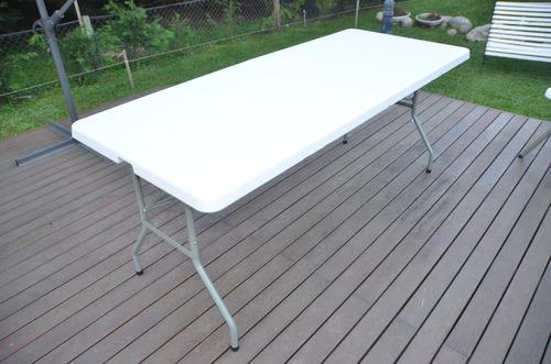 mesa plegable 1,83 x 76 x 75  hdpe envio gratis a sucursal