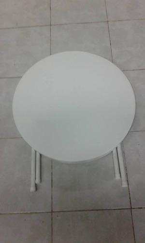 mesa plegable 60 cm diametro baja . plásticos munro