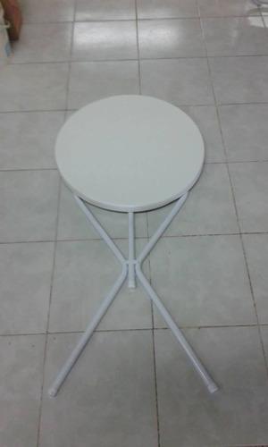 mesa plegable 60 cm diametro modelo copetín .plásticos munro