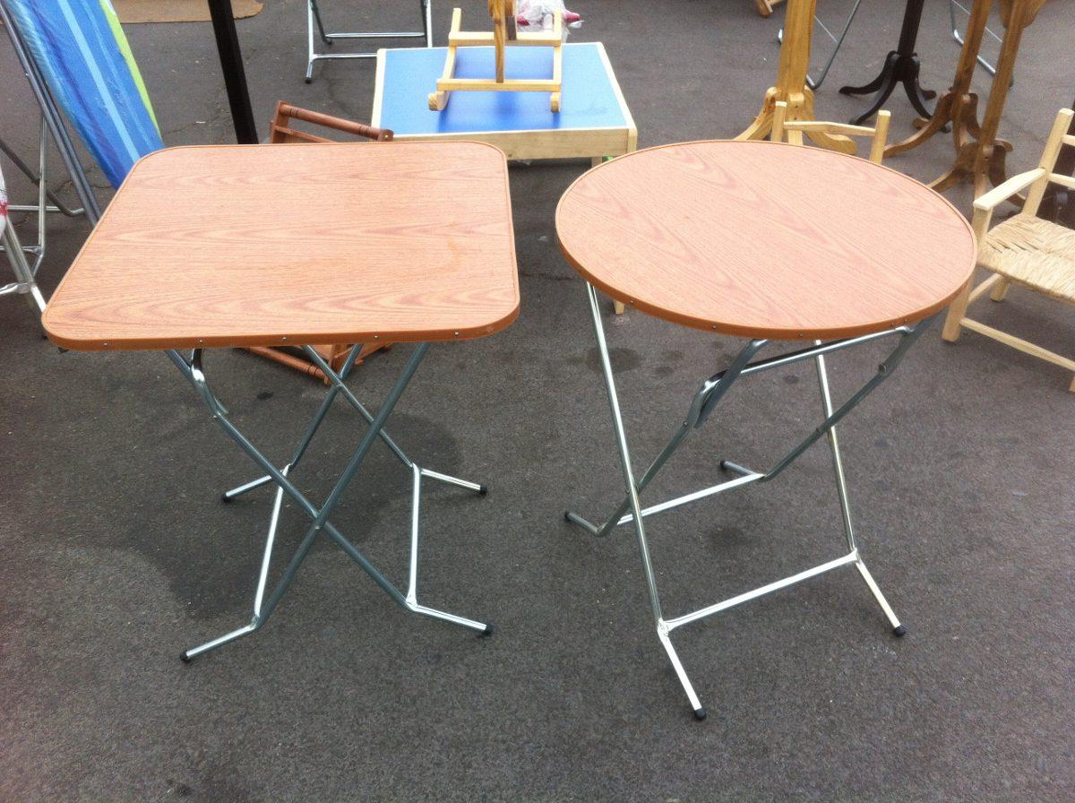 Mesa plegable 60x60 melamina metal modelo redondo o for Mesa plegable mercado libre