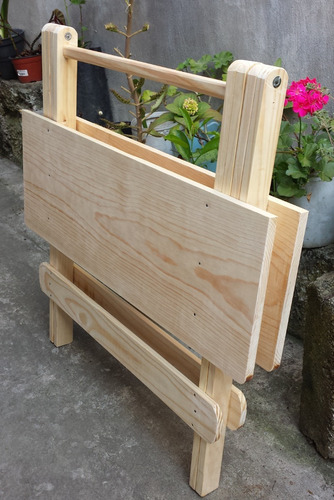mesa plegable  (80 x 60 - 75 alto) resistente envío gratis!