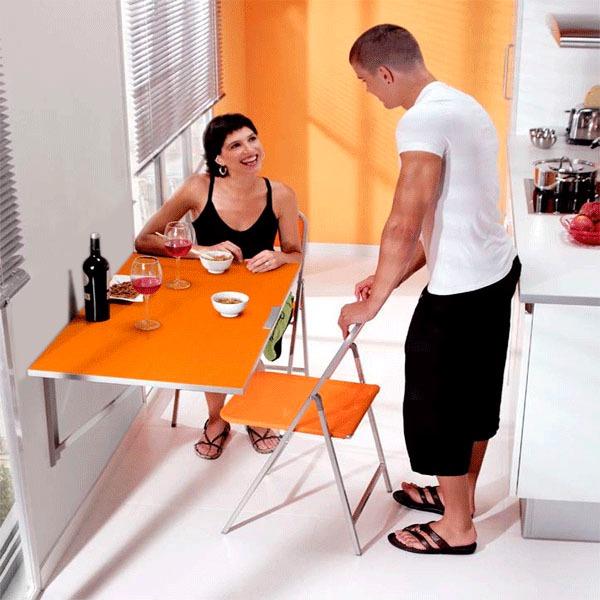 Mesa Plegable, Abatible Para Cocina - S/ 119,00 en Mercado Libre