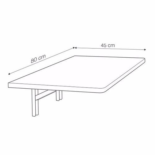 mesa plegable abatible para pared 80x45 cm - a medida