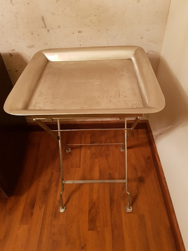 mesa plegable acero inoxidable