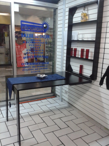 mesa plegable ahorra espacio